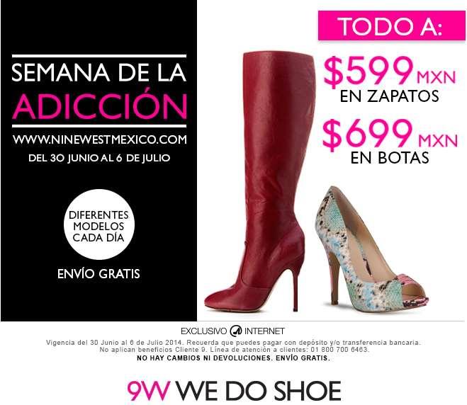 Semana de la adicción Nine West: todos los zapatos $599 y botas $699