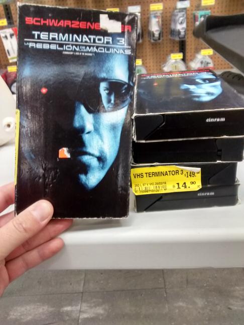 Soriana: terminator 3 en VHS super rebajajaja