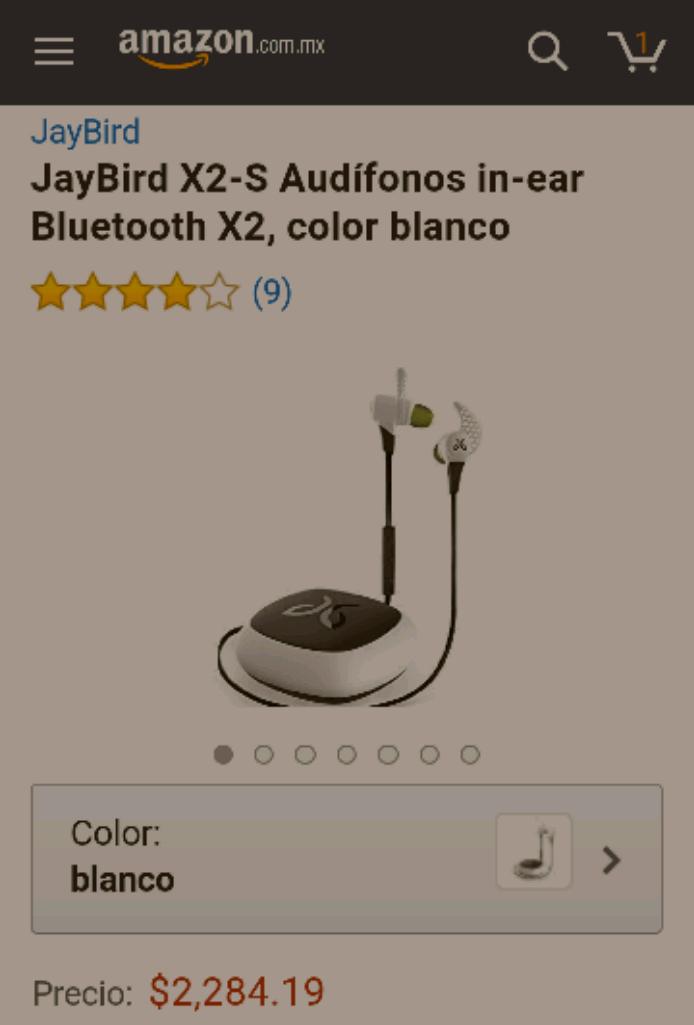 Amazon: Audífonos Jaybird x2 a $2,284