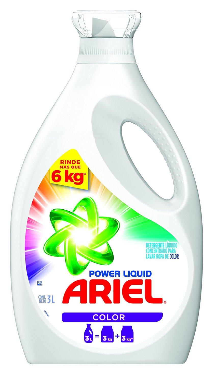 Amazon: Ariel Detergente líquido concentrado Power Liquid Color 3l a $92, Ace líquido a $98.99