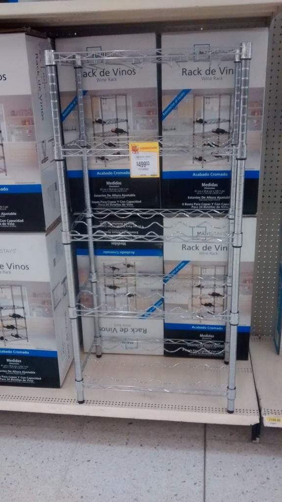 Walmart Terminal Toluca: Rack de vinos a $499.03