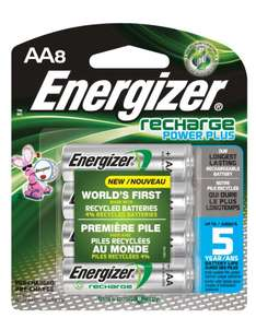 Amazon: 8 Pilas AA energizer power plus 2300 mah