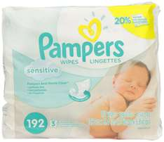 Amazon Mexico: Toallas húmedas para bebé Pampers Sensitive (192 piezas)