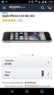 Amazon: iPhone 6 64Gb a $9,899 con Banamex
