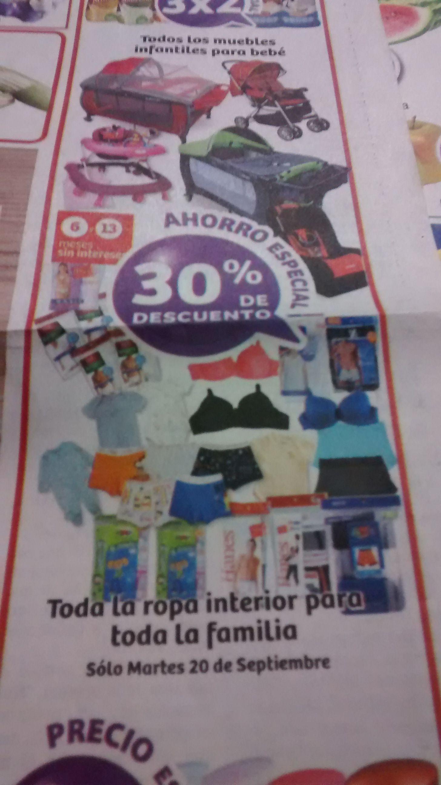 Soriana: 30% en toda la ropa interior para la familia