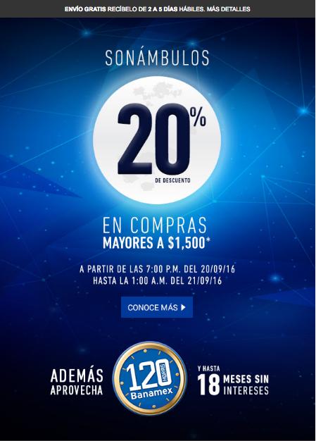 Venta nocturna Martí: 20% de descuento en compras de $1,500 ó más