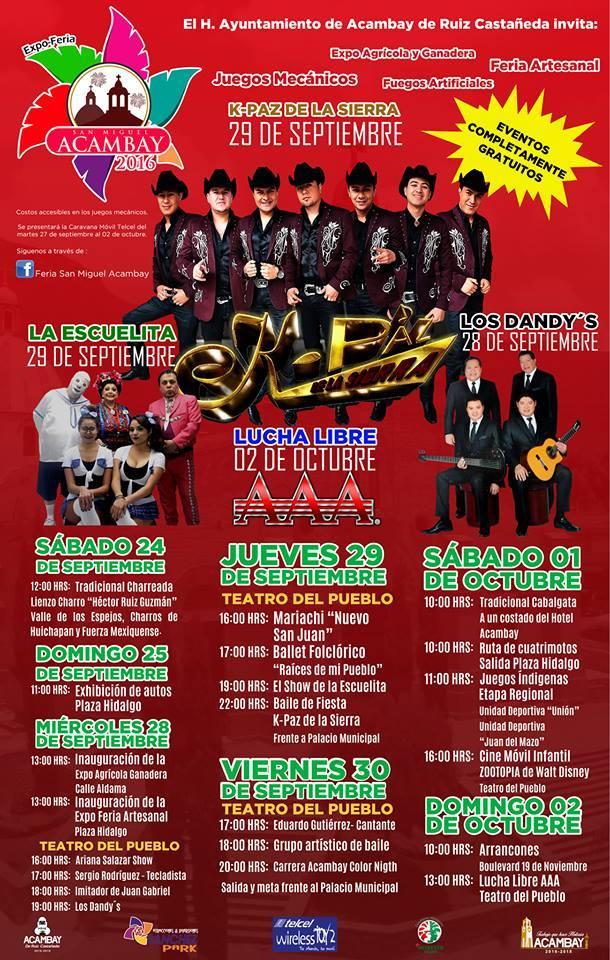 Concierto K-paz y otros gratis en Acambay Estado de México