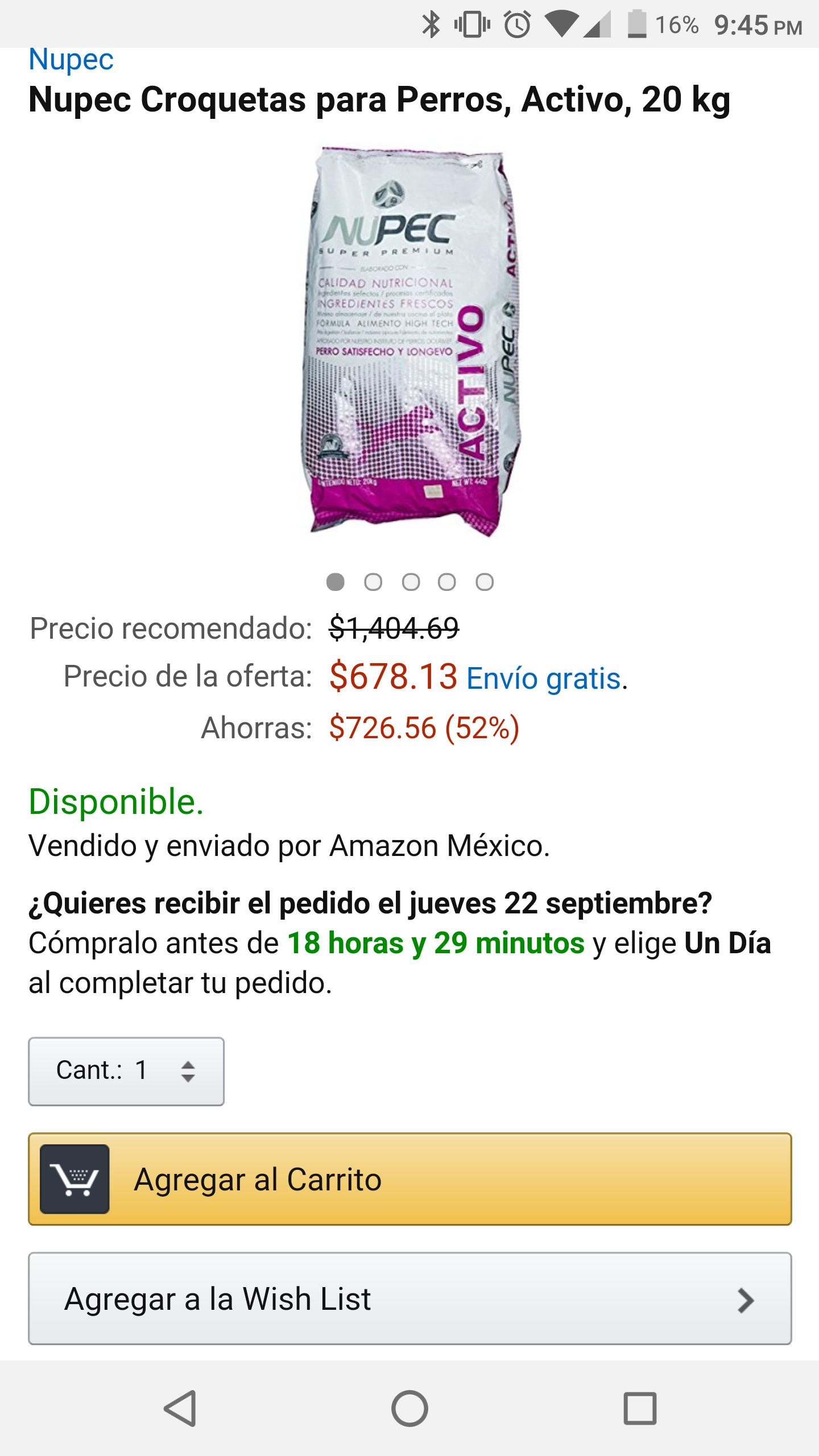 Amazon MX: Croquetas Nupec para perros, Activo, 20 kg