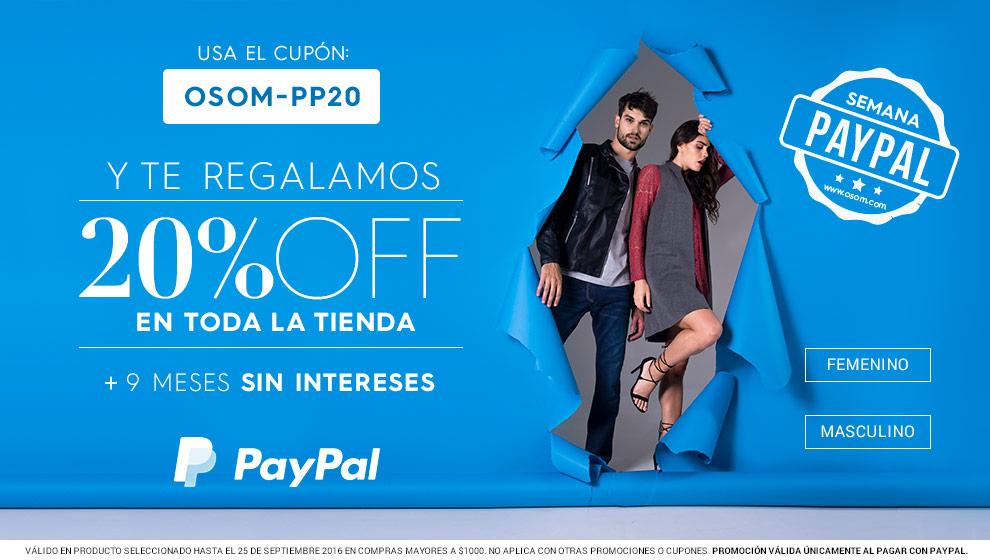 Ösom: descuento del 20% en toda la tienda más meses sin intereses con Paypal