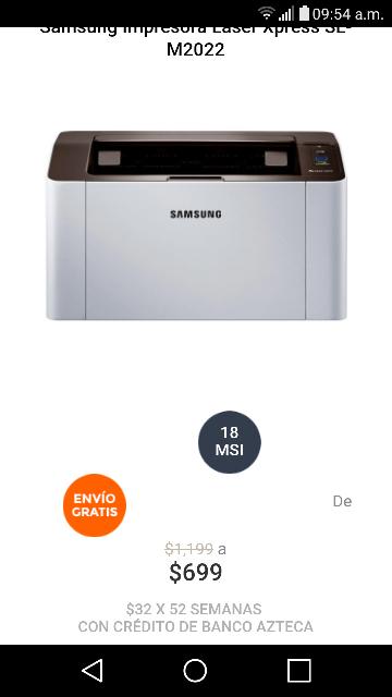 Elektra: Impresora Láser Samsung Xpress SL-M2022