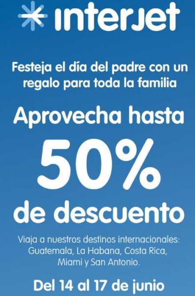 Interjet: 50% de descuento en destinos internacionales