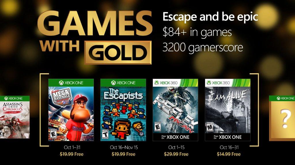 Xbox Live Gold: Games With Gold De Octubre