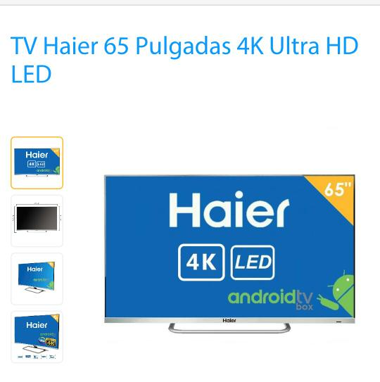 """Walmart en línea: tv 65"""" Haier 4K Ultra HD LED"""