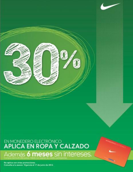 Mister Tennis y tiendas Nike: 30% en monedero en ropa y calzado para hombre