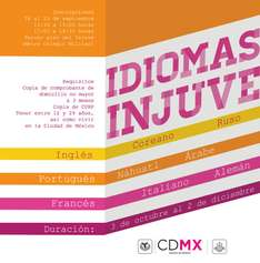 Cursos de Idiomas Gratis (Solo CDMX)