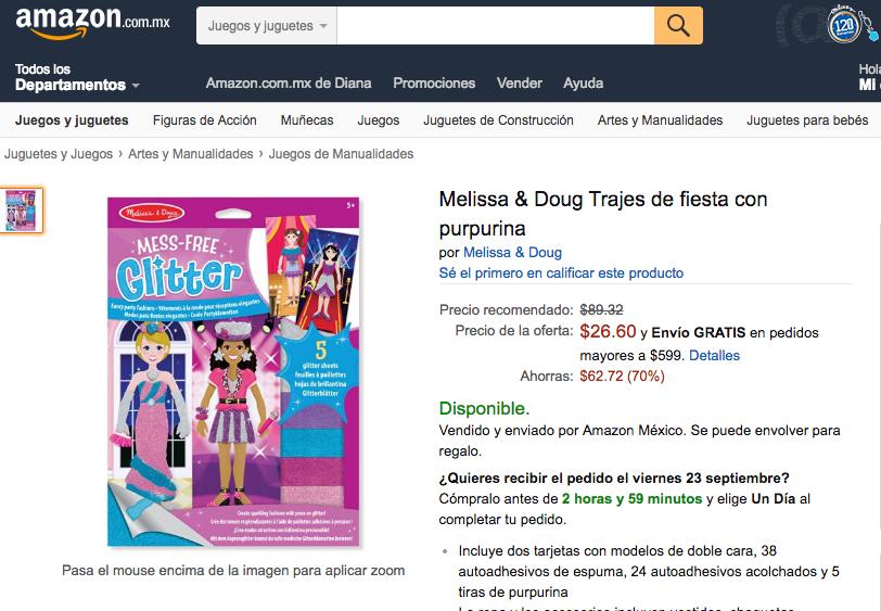 Amazon: Melissa & Doug rompecabezas, colores y juegos desde 21 pesos