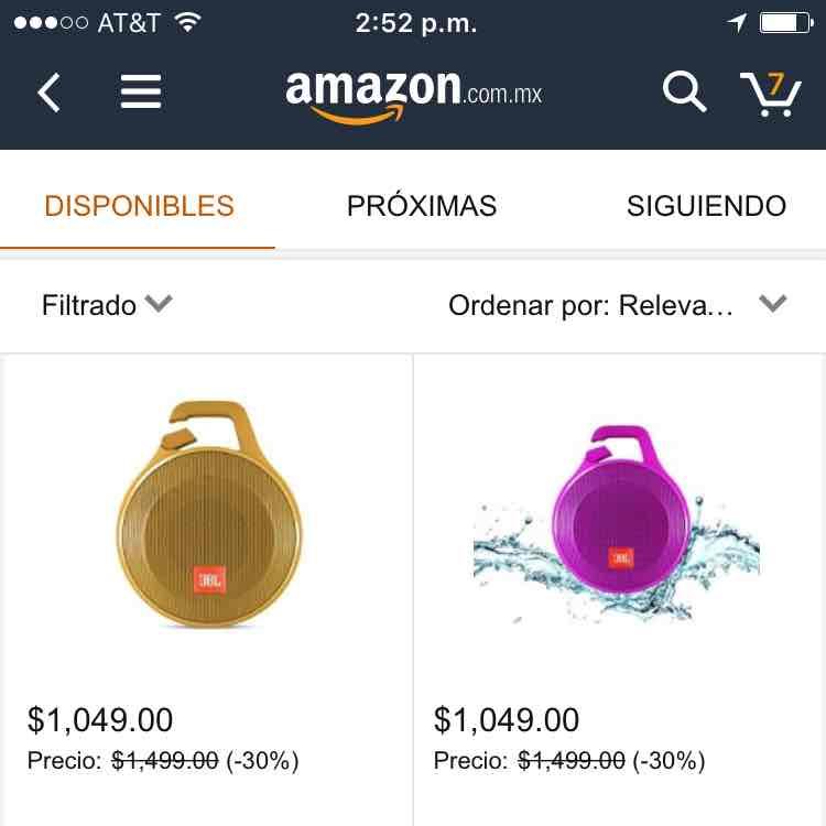 Amazon: Bocinas JBL inalámbricas contra agua