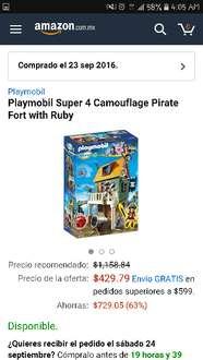 Amazon: Playmobil Super 4 Camouflage Pirate Fort with Ruby