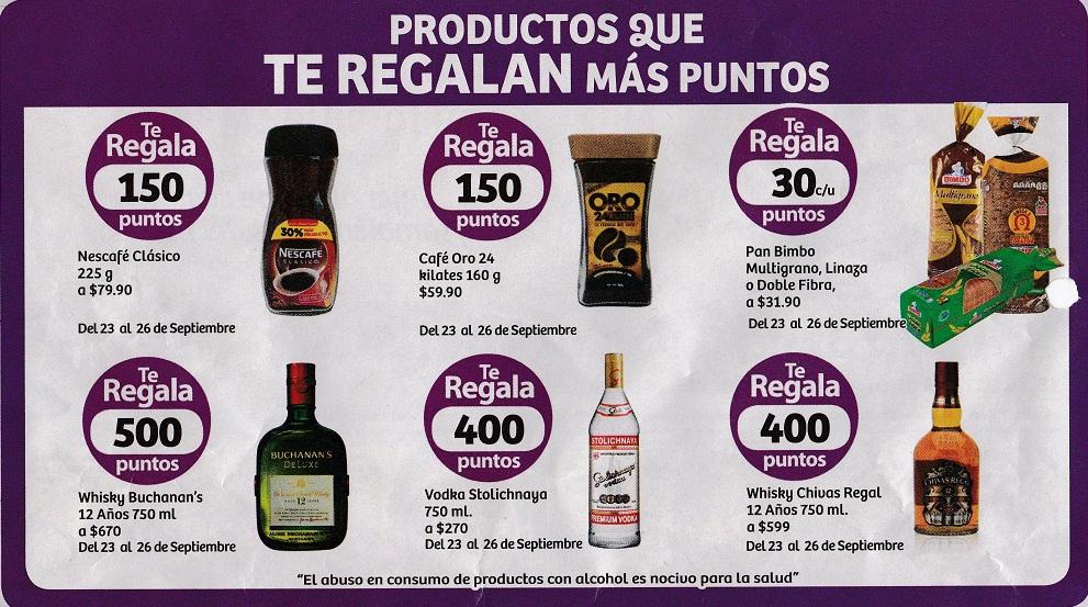 Soriana Híper: Productos que regalan puntos del 23 al 26 de Septiembre