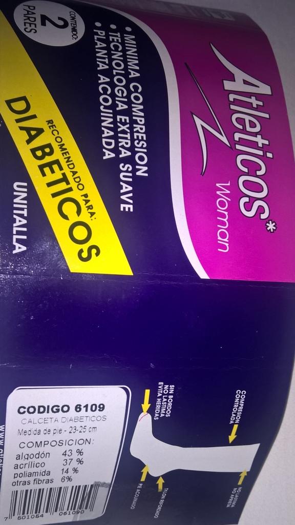 Walmart Universidad Villahermosa: Calcetas para diabeticos marca Atleticos