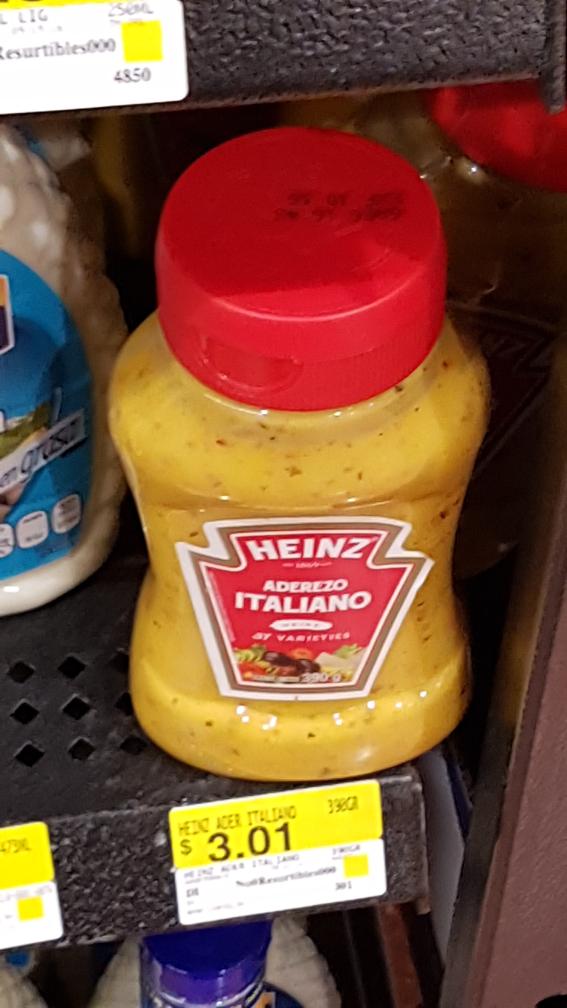 Walmart Perisur: Aderezo Italiano a $3.01