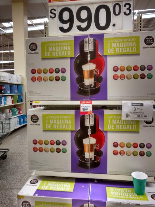 Walmart Quevedo: Dolce Gusto Melody + 12 cajas a $990.03
