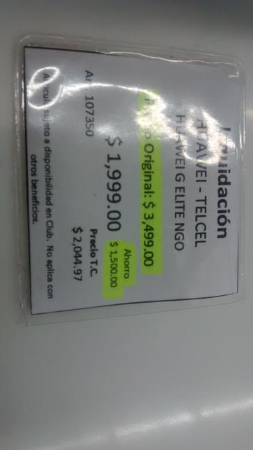Sam's Club: Huawei G Elite liquidacion a $1,999