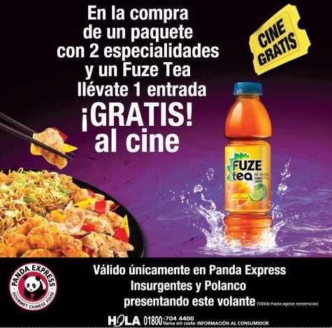 Panda Express: boleto de cine gratis en la compra de un paquete