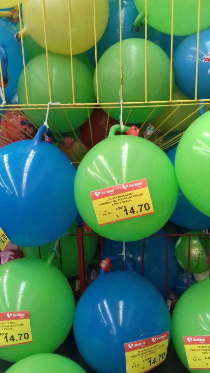 Soriana: Pelota saltarina grande $14.70
