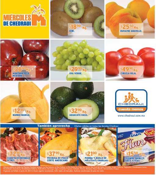 Miércoles de frutas y verduras en Chedraui junio 6: naranja y cebolla $3.90 el kilo y más