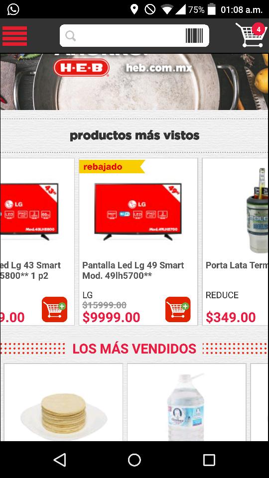 """HEB en línea: LG 49"""" SMART TV 49lh5700"""