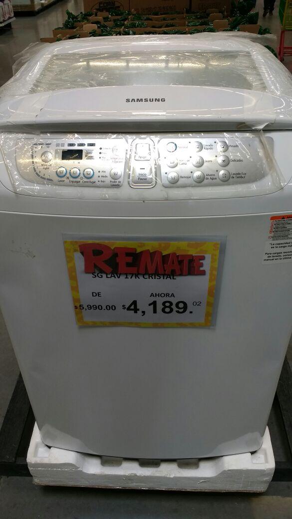 Bodega Aurrerá: lavadora Samsung 17Kg a $4,189.02