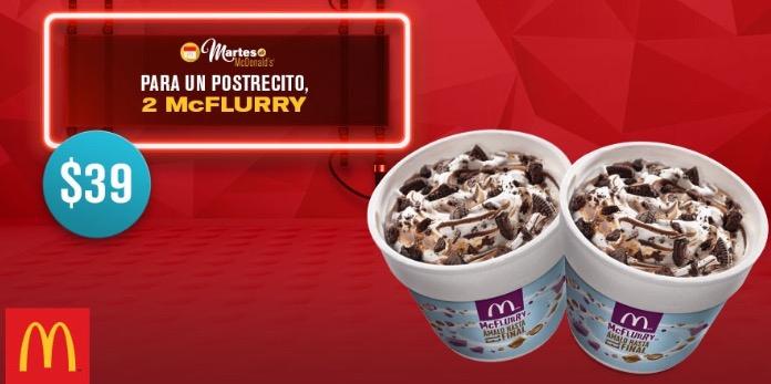 Martes de McDonald's: 2 McFlurry por $39 y 6 McMolletes por $55