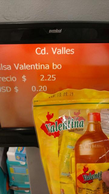 Chedraui: paquete de 60 sobres de Valentina