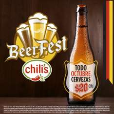 October fest en chillis, $20 la cerveza.