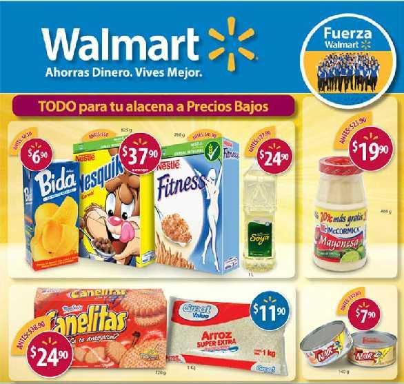 """Folleto Walmart: pantalla LED 40"""" $6,990, Torres 10 1.5 L $439, colchón individual $497 y más"""