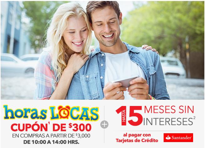 Best Buy: Horas Locas Santander 300 a partir de 3000 + 15 meses sin intereses