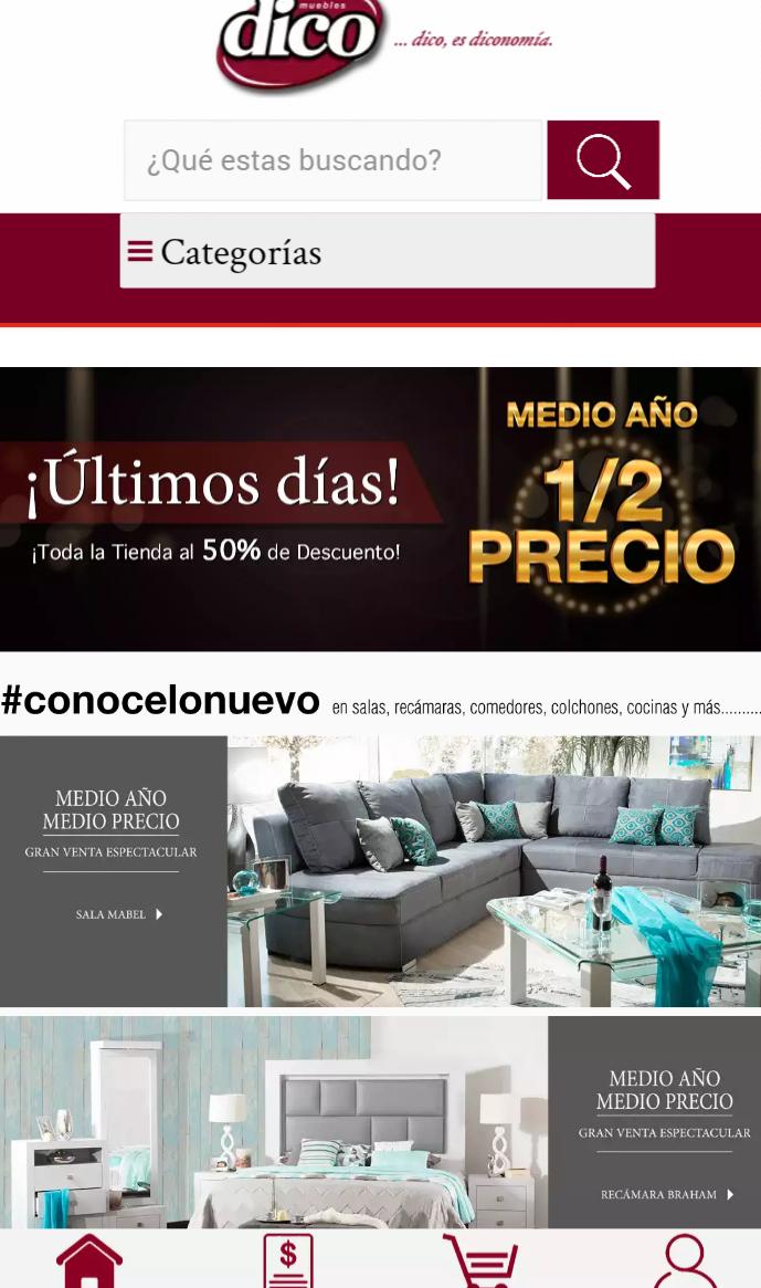 Muebles Dico: Medio año medio precio, toda la tienda hasta 50% de descuento
