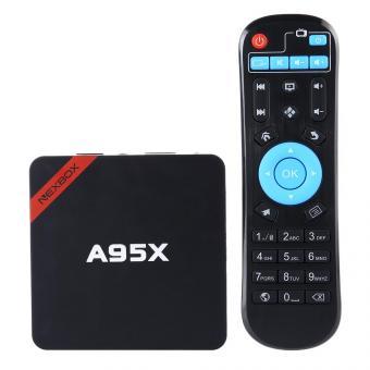 Linio: TV Box NEXBOX A95X Amlogic S905 Quad Core de 64 bits Android 5.1 4K inteligente Media Player 1 GB 8 GB de 2,4 GHz Wi-Fi