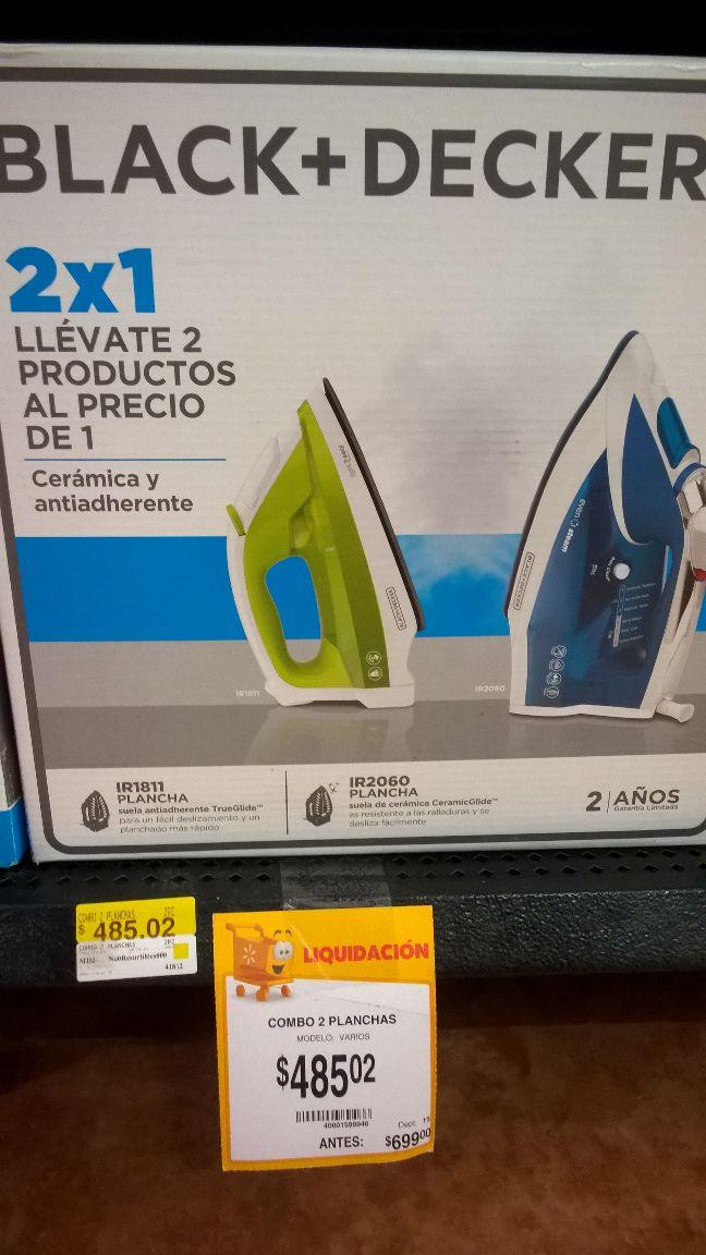 Walmart: Paquete 2 planchas Black & Decker a 485.02 y mas