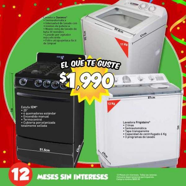 """Folleto Aniversario Bodega Aurrerá: pantalla 37"""" y blu-ray LG $6,990, lavadoras o estufa a $1,990 y más"""