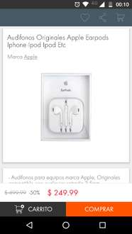 Linio: Earpods Apple a $249.99