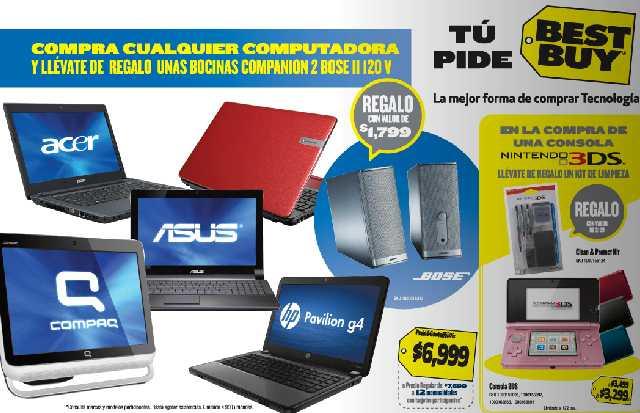 Best Buy: bocinas Bose gratis al comprar computadora, $100 en cupones x c/$1,000 en consolas y TVs y +