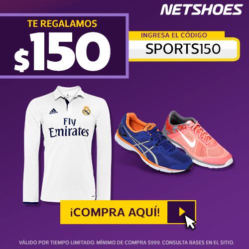 Netshoes: cupón de $150 de descuento + 30% en ptos seleccionados