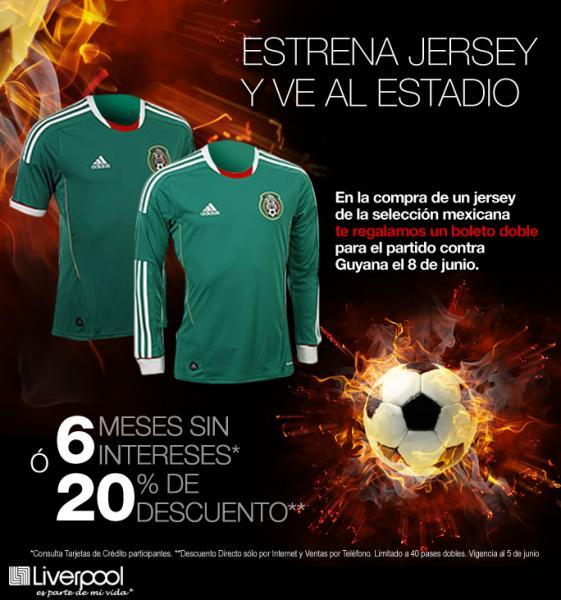 Liverpool: boleto doble gratis para México vs Guyana al comprar jersey de la selección
