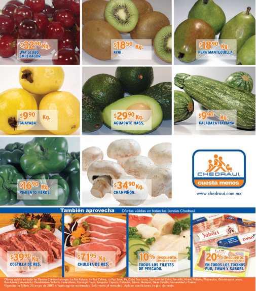 Miércoles frutas y verduras Chedraui mayo 30: lechuga $2.90, manzana $12.90 y más