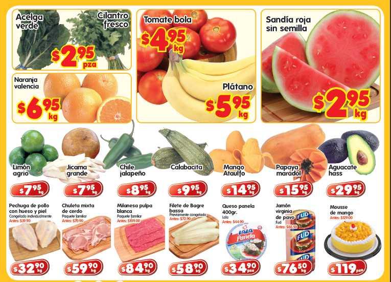 Frutas y verduras HEB: sandía $2.95, plátano $5.95 y más
