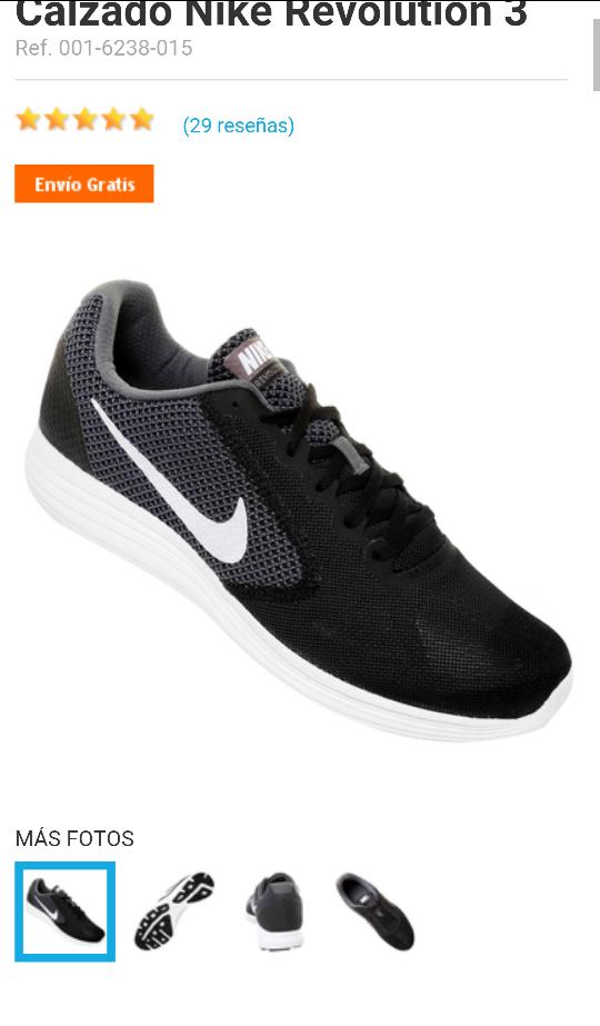 Netshoes: Nike revolution 3 a $620 cupón y envío gratis