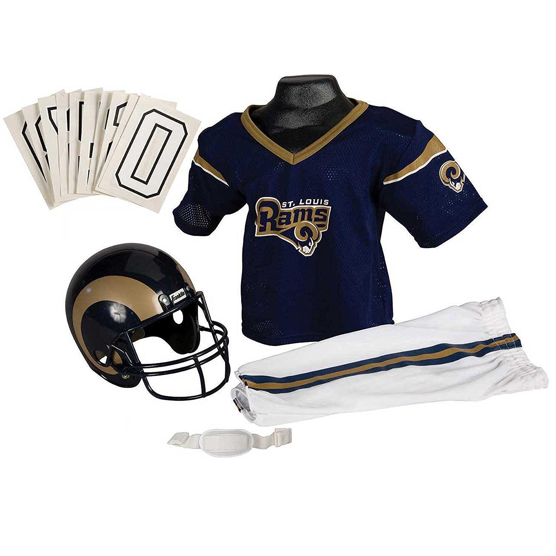 Amazon: Uniforme Completo Deluxe NFL St. Louis Rams Juvenil MEDIANO + otros