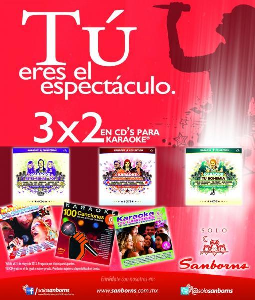 Sanbons: 3x2 en CDs para karaoke